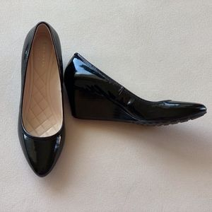Cole Haan Emory LX Black Patent Wedge Size 7.5B